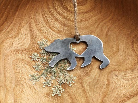 Bear Small Steel Ornament