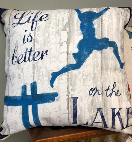 Lake Living Divin' In Pillow
