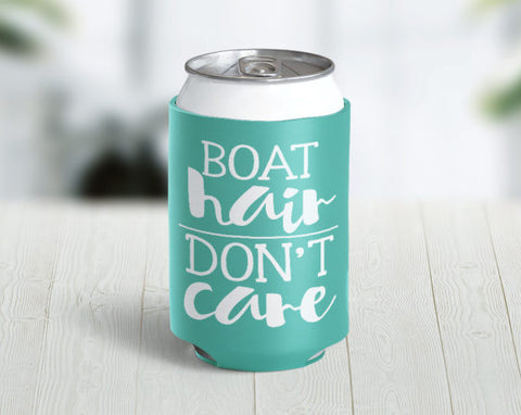 Boat Hair Don't Care Hugger/Koozie (Black)
