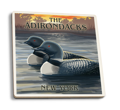 Loons at Sunset - Adirondacks New York Coasters