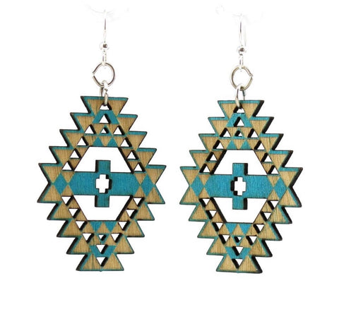 Navajo Earrings - Aqua