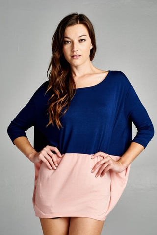 Colorblock Dolman Top - Plus