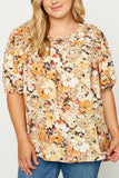 Floral Ruched Tunic - Plus