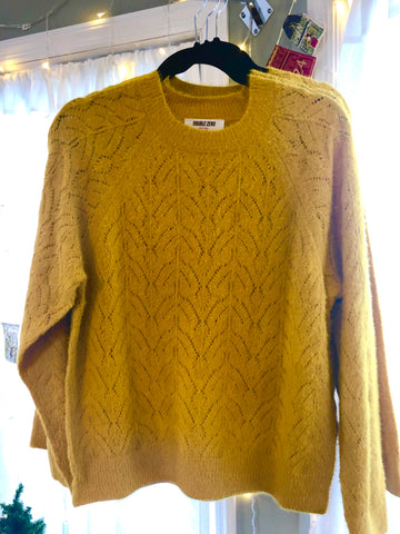 "Pointelle Sweater - ""Ginger"""