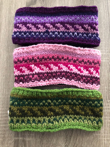 Knit Wool Headbands (Multiple Colors)