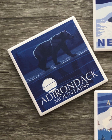 Night Bear Adirondacks Coaster