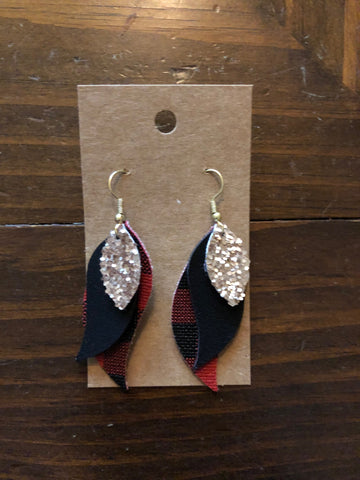 Handmade Faux Leather Earrings