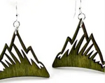 Mountain Earrings - Apple Green