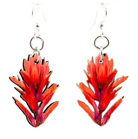 Indian Paint Brush Earrings