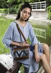 Indigo Charm Shoulder or Crossbody Bag