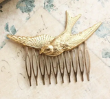Bird Flying Comb - Gold or Copper