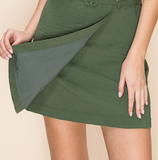 Belted Mini Pencil Skirt