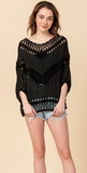 Crochet Dolman Sleeve Shirt