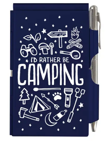 Camping Flip Notebook - Navy