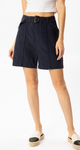 Belted Navy Shorts