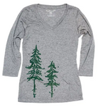 Tree Print 3/4 Sleeve Ladies' Tee (S-XXL)
