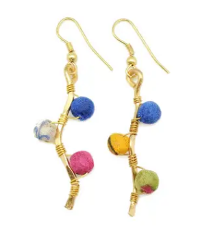 Asha Beaded Bar Earrings