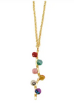 Asha Beaded Pendant Necklace