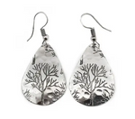 Tree Earrings (Silver or Copper)