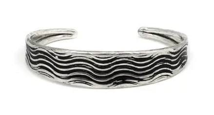 Wave Etched Cuff