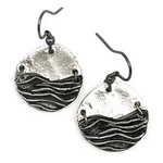 Wave Pewter Earrings (Silver color or Copper)