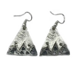 Mountain Peak Pewter Earrings (Copper or Silver)