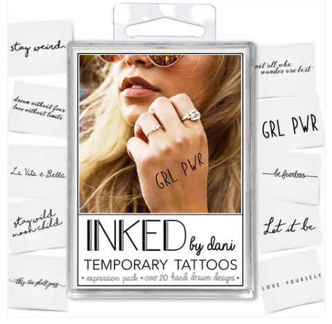 The Expression Pack - Temporary Tattoos