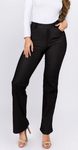Mid-Rise Flare Jegging - Nearly Black