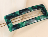Rectangular Cut Out Acetate Hair Clip
