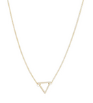 Open Triangle Necklace - Gold