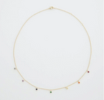 Rainbow Crystal Stardust Necklace - Silver or Gold