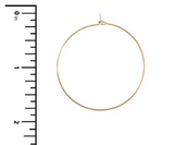 Thin Hoop Earring (Gold or Silver)