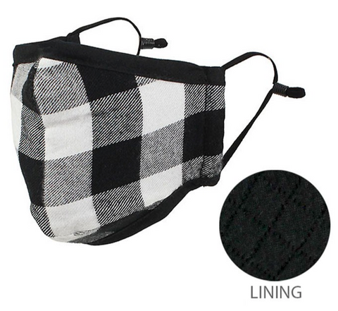 Plaid Mask with Nose Wire (Multiple Colors)
