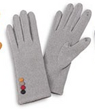 Smart Touch Gloves with Button Detail