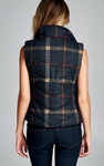 Plaid Vest - Navy