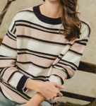 Striped Sweater - Purple/Pink