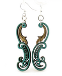 Paisley Leaf Earrings - Teal