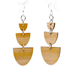 Stacked Half Stone Bamboo Earrings