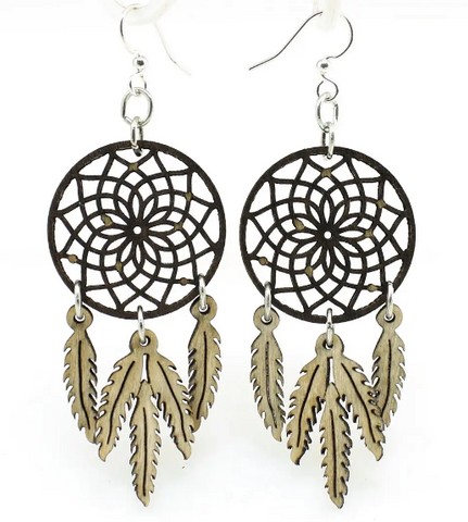 Dreamcatcher with Feathers Earrings