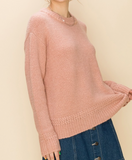 Round Neck Sweater - Dusty Rose