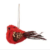 Red Sisal Bird Ornament