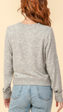 Crew Neck Sweater - Heather Grey