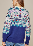 Aztec Inspired Sweater - Blue-Multi