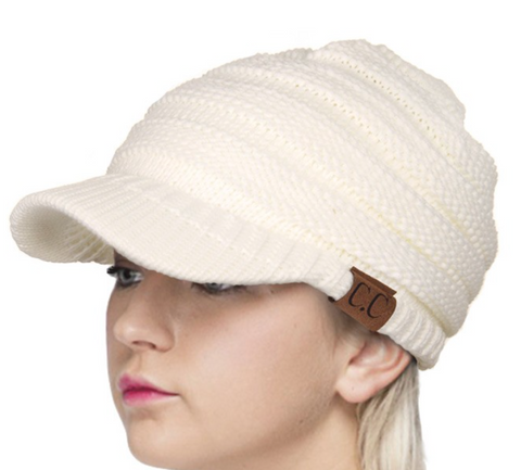 CC Knitted Brim Hat (Multiple Colors)