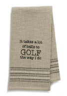 Teed Off Dishtowel