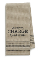 Cats in Charge Dishtowel