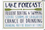 Lake Forecast Sign