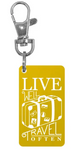 Travel Often Keychain Charm - Gold