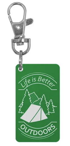 Life is Better Outdoors Keychain Charm