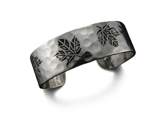 Silver Maple Leaf Cuff